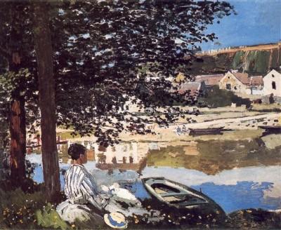 Monet - au bord de l'eau bennecourt 1868 chicago.jpg