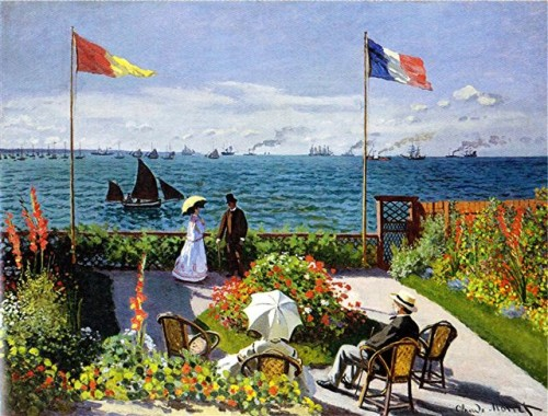 Monet - terrasse  sainte-adresse 1867 metropolitan new york.JPEG