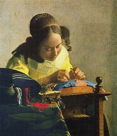 peinture,vermeer,louvre,dentellire