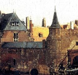peinture,vermeer,vue de delft