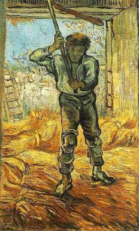 peinture,van gogh,saint-rémy,st paul moselée, millet
