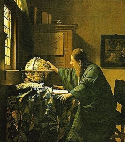 peinture,vermeer,louvre,astronome,