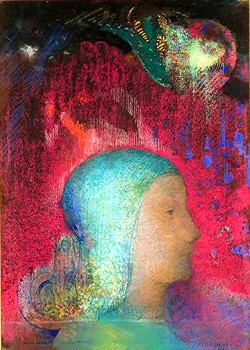 peinture,criture,odilon redon